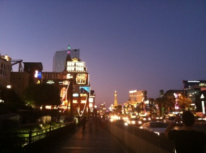 Just nearly sun down in Vegas, NV